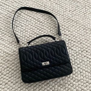 J.Crew black quilted lady bag